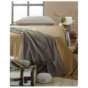 dessus de lit taupe achat vente dessus de lit taupe pas cher cdiscount. Black Bedroom Furniture Sets. Home Design Ideas
