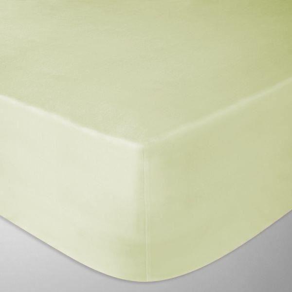 Drap housse flanelle 180x200 cm couleur jaune p le for Drap housse flanelle