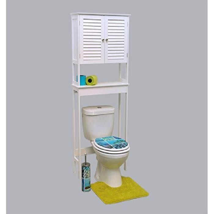 meuble dessus wc florence blanc achat vente colonne. Black Bedroom Furniture Sets. Home Design Ideas