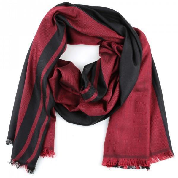 foulard homme femme bicolore rouge bordeaux et noi rouge achat vente echarpe foulard. Black Bedroom Furniture Sets. Home Design Ideas