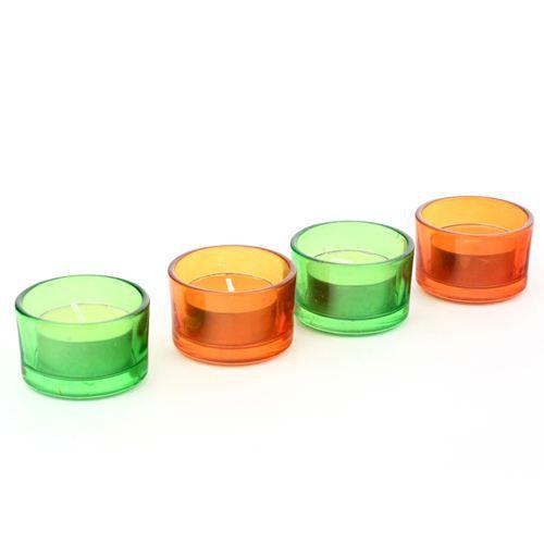 lot de 4 bougies chauffe plat en pot de verre achat vente bougie d corative verre cdiscount. Black Bedroom Furniture Sets. Home Design Ideas