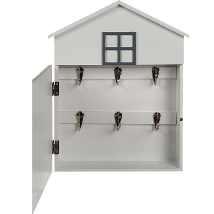 bo te clefs en forme de petite maison achat vente armoire boite a cl soldes cdiscount. Black Bedroom Furniture Sets. Home Design Ideas