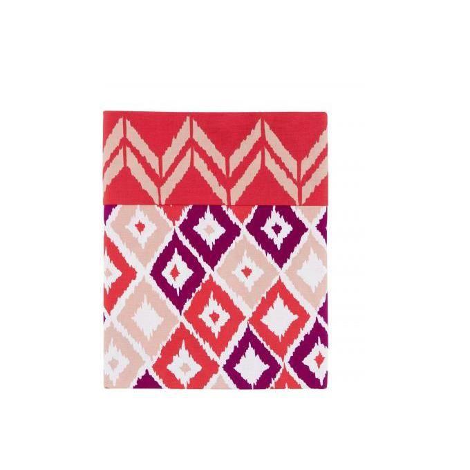 housse de couette rouge coton imprim 220x240 cm boukhara. Black Bedroom Furniture Sets. Home Design Ideas