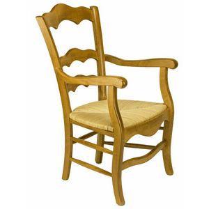 fauteuil bois h tre 100 massif assise paille achat vente fauteuil marron soldes d. Black Bedroom Furniture Sets. Home Design Ideas