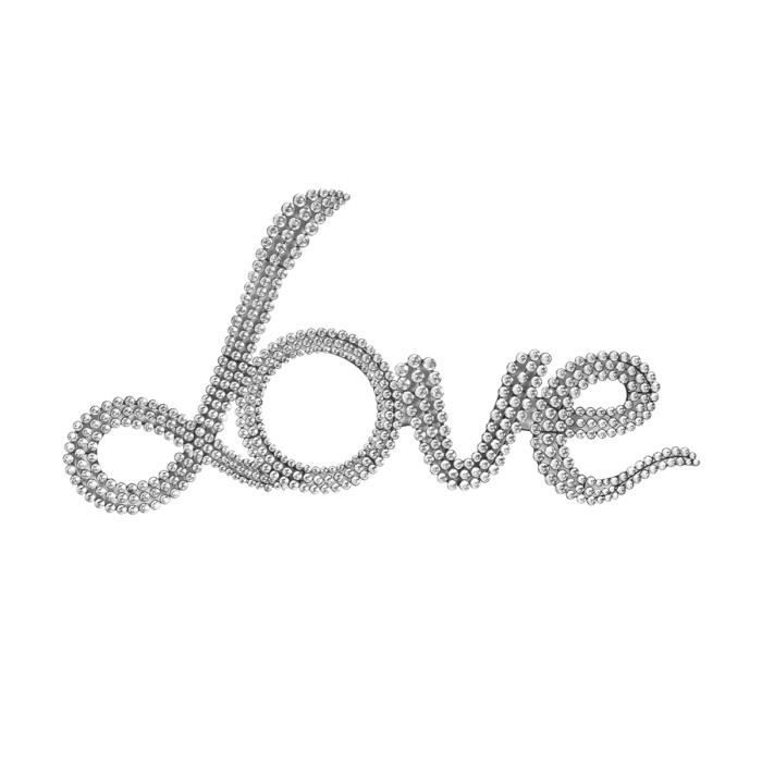 Plaque d co lettres strass love achat vente stickers for Decoration maison strass