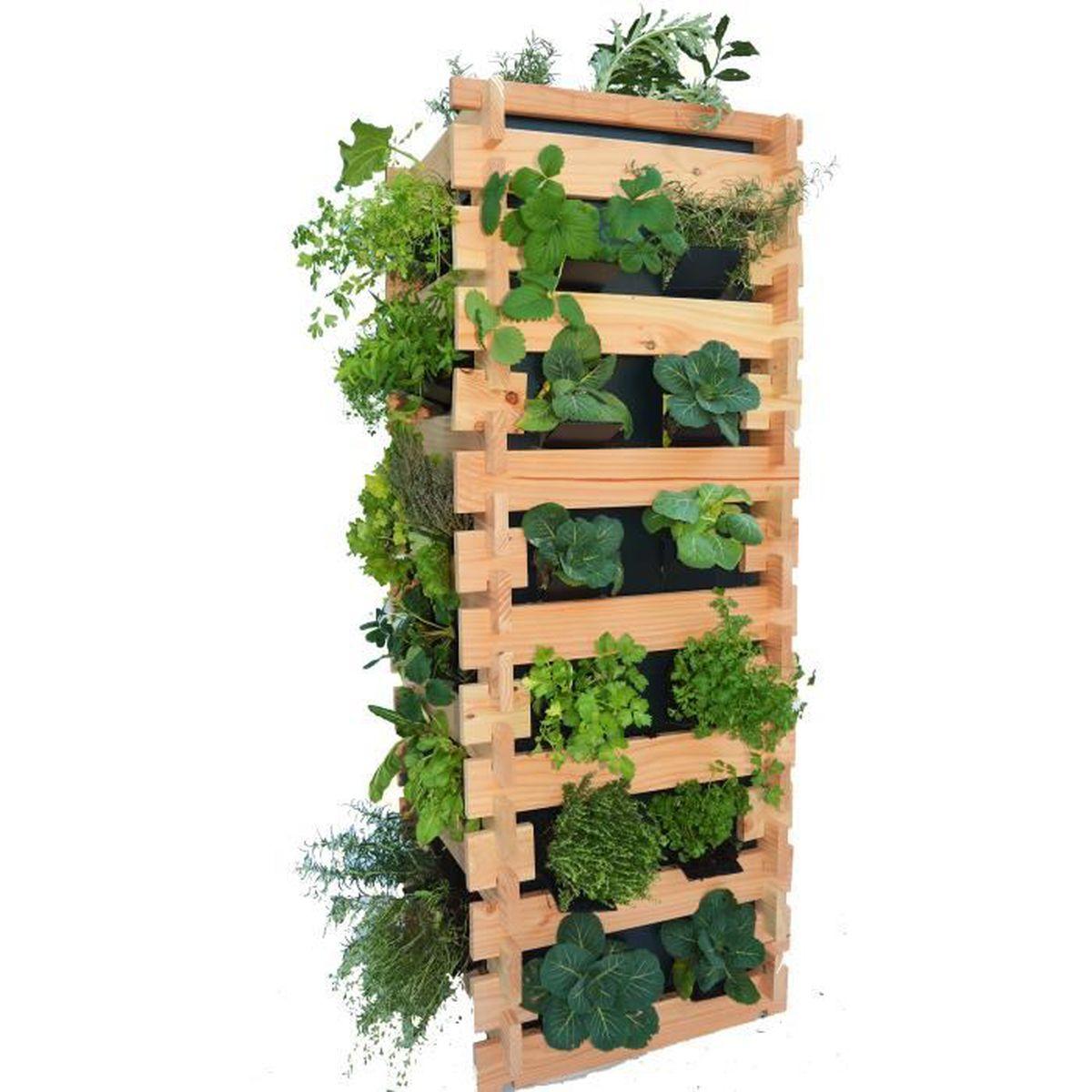 Mur végétal tour carre potager vertical surélevé