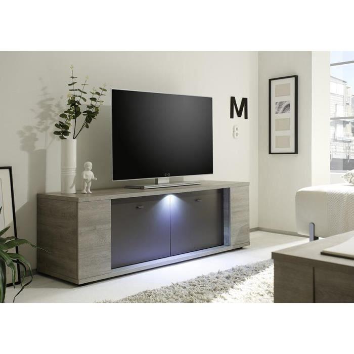 Meuble TV Canberra avec éclairage led 137cm - Achat / Vente meuble tv ...