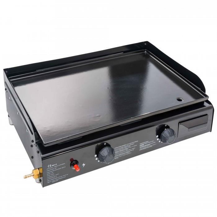 Plancha a gaz en acier emaillee imagin 39 planche de table 2 bruleurs pui - Puissance plancha gaz ...