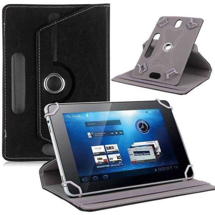 etui rotatif universel pour tablette jusqu 39 10 1 noir prix pas cher cdiscount. Black Bedroom Furniture Sets. Home Design Ideas