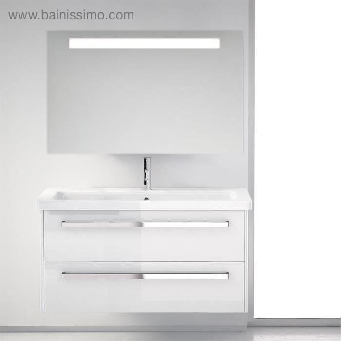 meuble de salle de bains smile 2 tiroirs blanc achat vente meuble vasque plan meuble. Black Bedroom Furniture Sets. Home Design Ideas