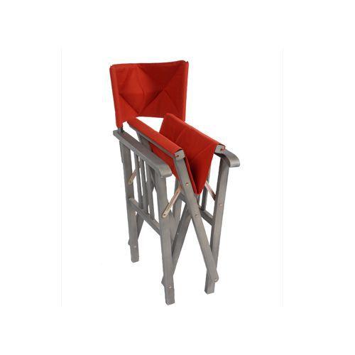 Chaise pliante en eucalyptus coussin rouge achat - Chaise pliante rouge ...