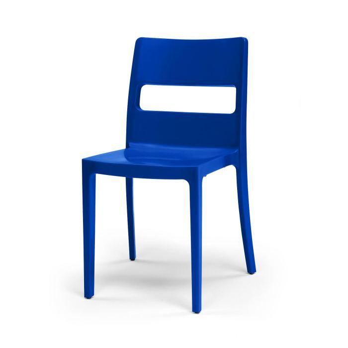 6 chaises bleues design sai lot de 6 d co achat for Lot de 6 chaises design