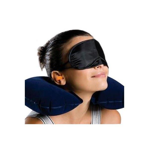 kit de relaxation de voyage masque de nuit noir achat vente kit de confort voyage. Black Bedroom Furniture Sets. Home Design Ideas