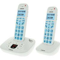 Téléphone fixe LOGICOM CONFORT 255 Duo Répondeur Blanc
