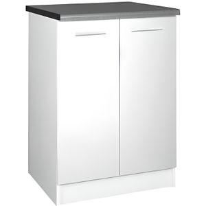 meuble bas 2 portes blanc laque achat vente meuble bas 2 portes blanc laque pas cher cdiscount. Black Bedroom Furniture Sets. Home Design Ideas