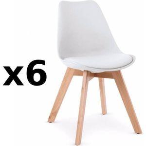 Lot 6 chaises scandinave achat vente lot 6 chaises scandinave pas cher - Chaise pas cher lot de 6 ...