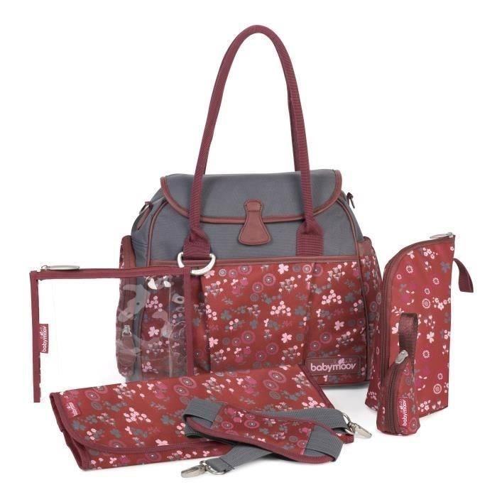 babymoov sac langer style bag cherry rose et gris. Black Bedroom Furniture Sets. Home Design Ideas