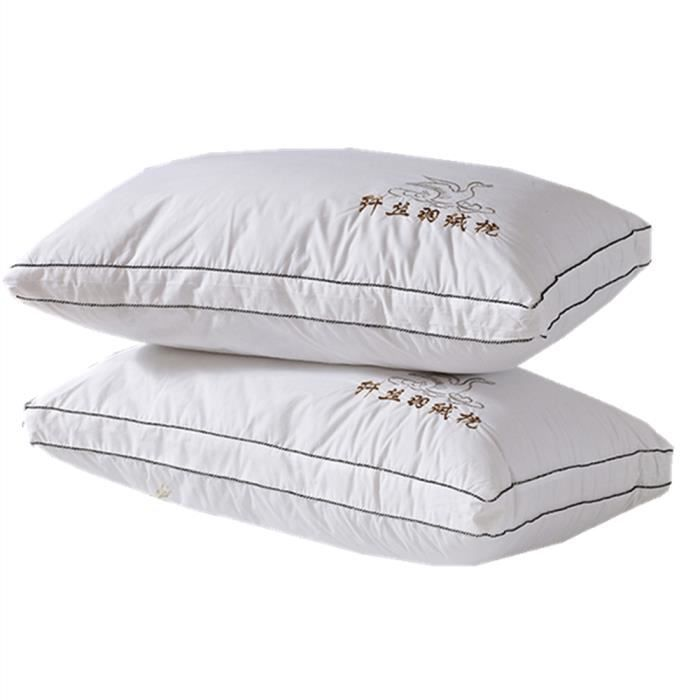 lot de 2 oreillers protection de cou soulagement d. Black Bedroom Furniture Sets. Home Design Ideas
