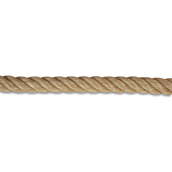 Bobine de 20 m de corde rampe d escalier 32 mm polypropyl ne beige achat vente sandow - Rampe d escalier en corde ...