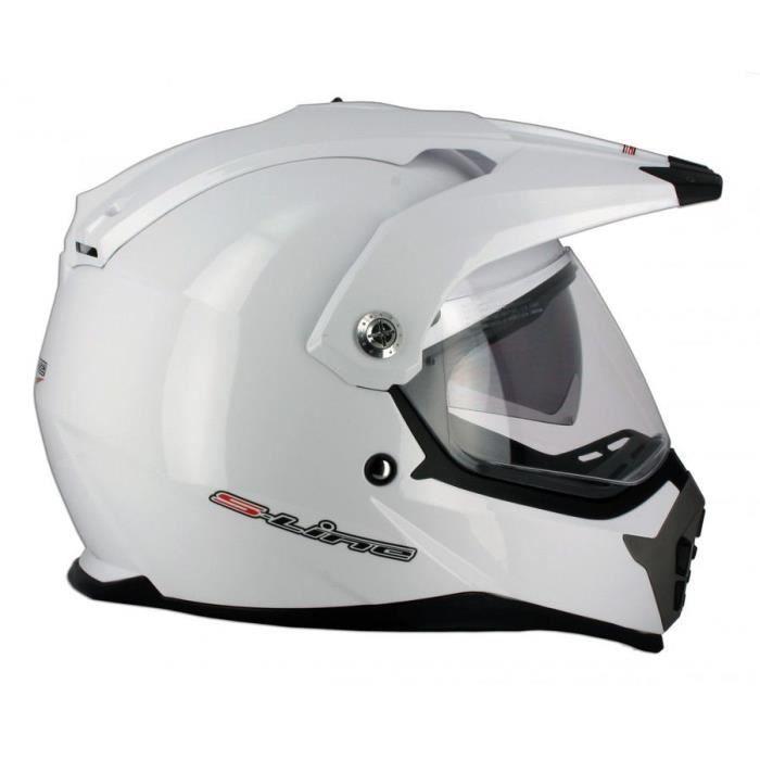 casque moto enduro pump s610 blanc xs achat vente casque moto scooter casque moto enduro. Black Bedroom Furniture Sets. Home Design Ideas