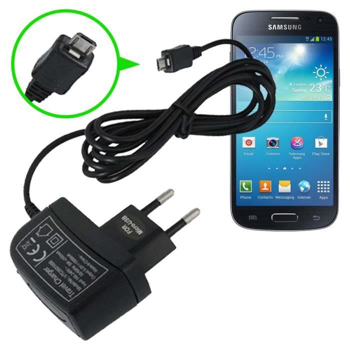 chargeur secteur 1a samsung galaxy s4 mini i9190 achat. Black Bedroom Furniture Sets. Home Design Ideas