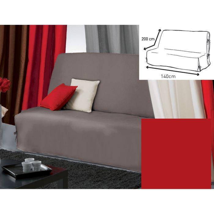 housse bz 140x200 panama rouge achat vente housse de. Black Bedroom Furniture Sets. Home Design Ideas