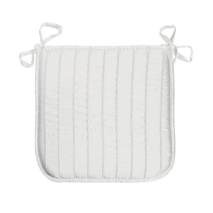 Galette de chaise 37x37 lineo blanc achat vente - Galette de chaise blanc ...