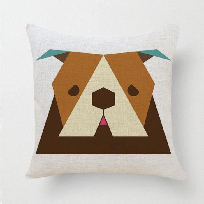 focus vogue mode taie d 39 oreiller carr de dessin d animaux en coton lin housse de coussin 40x40. Black Bedroom Furniture Sets. Home Design Ideas