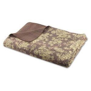 couvre lit boutis marron achat vente couvre lit boutis marron pas cher cdiscount. Black Bedroom Furniture Sets. Home Design Ideas