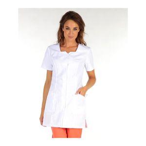 blouse de travail manche courte femme achat vente blouse de travail manche courte femme pas. Black Bedroom Furniture Sets. Home Design Ideas