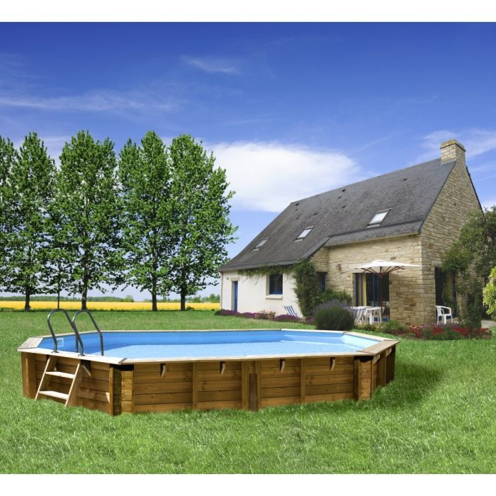Piscine bois curuba 6 42 x 4 12 m x h1 33 m achat vente kit piscine piscine bois curuba - Piscine bois 6 x 4 ...