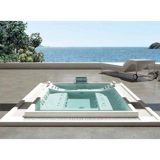 spa d bordement tokyo 70 avec projecteur led achat. Black Bedroom Furniture Sets. Home Design Ideas