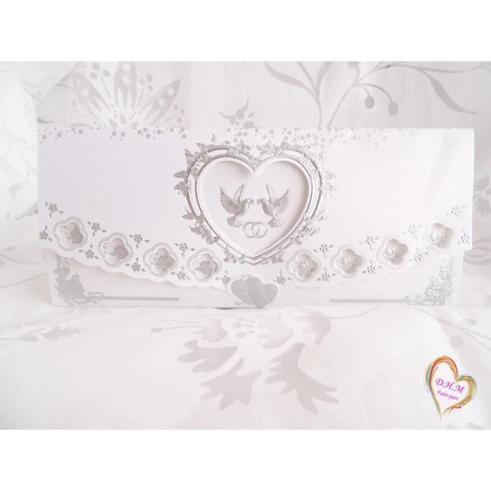 carte d invitation pour mariage achat vente carte d invitation pour mariage pas cher les. Black Bedroom Furniture Sets. Home Design Ideas