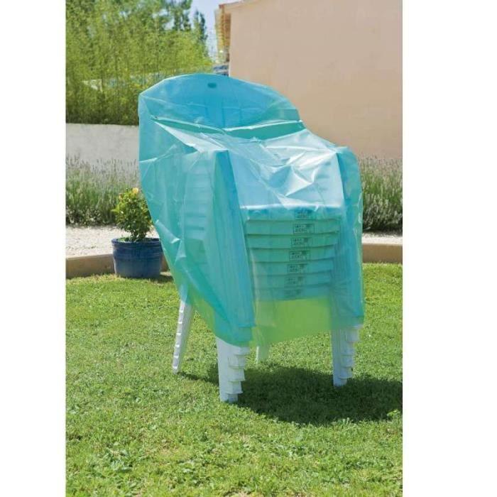 Housse bache pour chaise fauteuil de jardin 6 chaises empil es achat vente housse meuble - Bache pour jardin ...