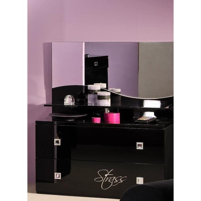 Meuble coiffeuse pour chambre maison design for Meuble noir chambre