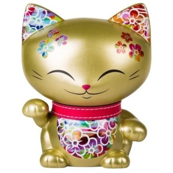 Chat porte bonheur mani the lucky cat dor achat vente figurine personnage cdiscount - Porte bonheur chinois chat ...