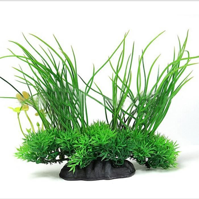 aquarium d corations plantes artificielles herbe simulation paysage vert achat vente d co. Black Bedroom Furniture Sets. Home Design Ideas