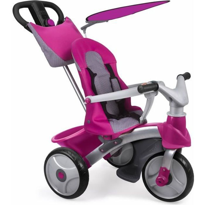 feber tricycle baby trike easy girl evolution rose achat vente tricycle les soldes sur. Black Bedroom Furniture Sets. Home Design Ideas