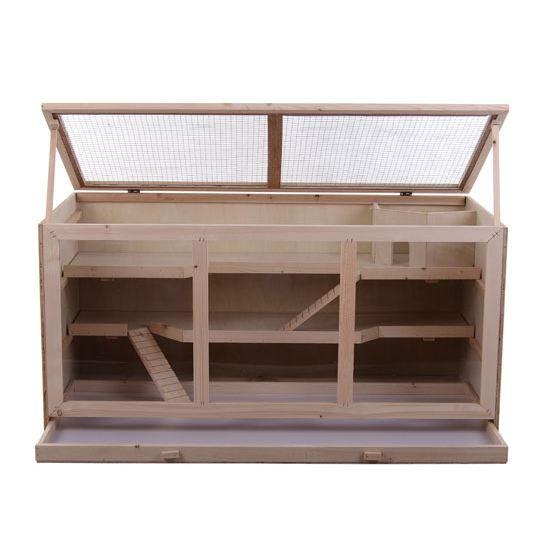 maison cage hamster rat souris rongeur en bois achat. Black Bedroom Furniture Sets. Home Design Ideas