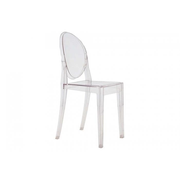 Lot de 2 chaises design en plexi transparent nitra achat for Chaise design plexi