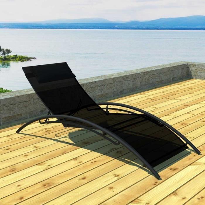 paris prix bain de soleil en textil ne san r mo noir. Black Bedroom Furniture Sets. Home Design Ideas
