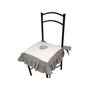 galette et housse de chaise dehoussable achat vente. Black Bedroom Furniture Sets. Home Design Ideas