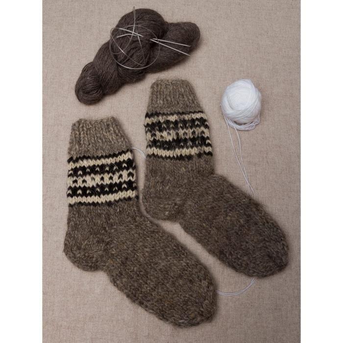 chaussettes de laine pour homme faites main gris noir achat vente chaussettes 2009918833562. Black Bedroom Furniture Sets. Home Design Ideas