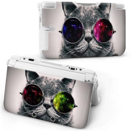 Coque housse nintendo 3ds xl chat lunettes cat moustache for Housse nintendo 3ds xl