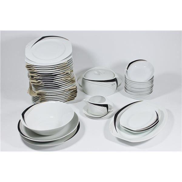 Service de table vaisselle en porcelaine de bav achat vente assiette s - Vaisselle en porcelaine ...