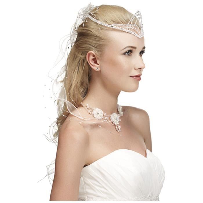 coiffure de mari e princesse 6414 blanc unique achat vente barrette chouchou coiffure. Black Bedroom Furniture Sets. Home Design Ideas