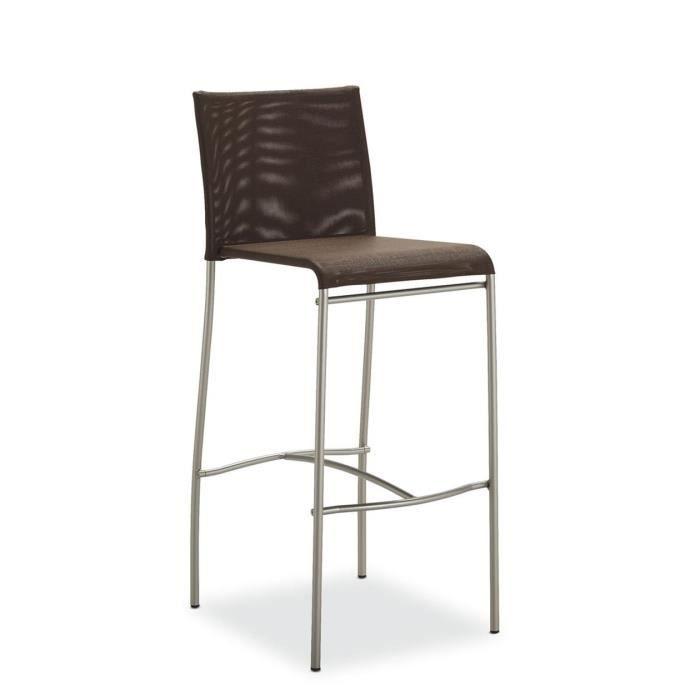 tabouret snack design chocolat belem hauteur 10 achat. Black Bedroom Furniture Sets. Home Design Ideas