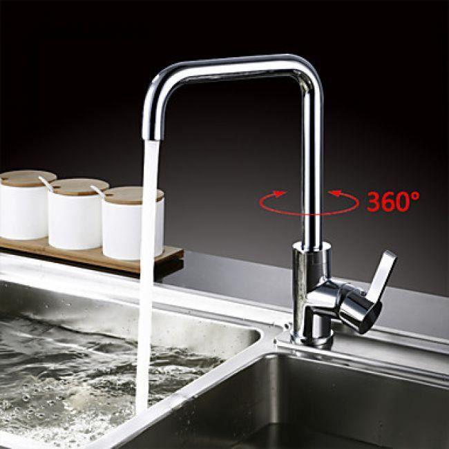 Robinet de cuisine sur lev et rotatif un robinet de for Prix d un robinet de cuisine