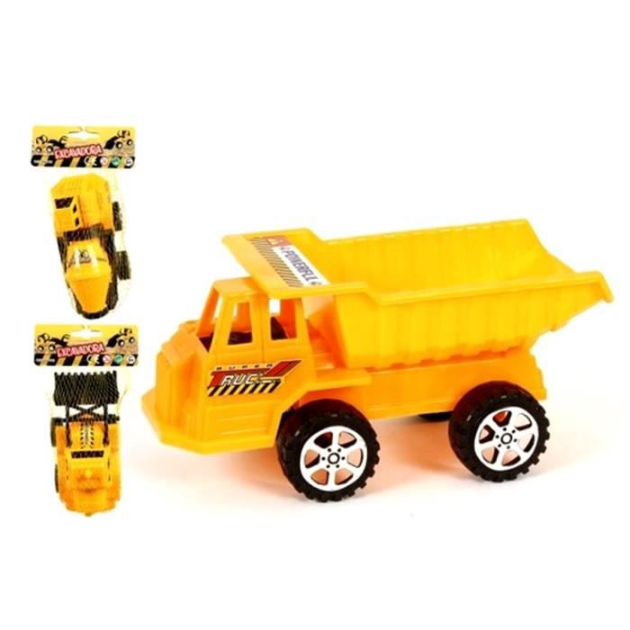 1 camion de chantier pelleteuse benne toupie jouet achat. Black Bedroom Furniture Sets. Home Design Ideas