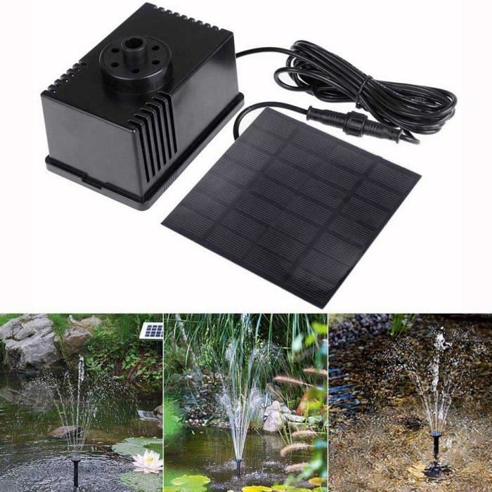Homdox 1 5w pompe fontaine arrosage fontaine solaire pompe for Pompe solaire fontaine